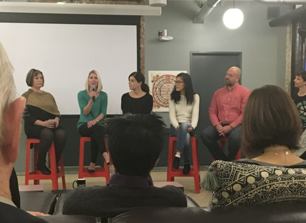 """Photo: The panel discussion in Seattle Startup Week discussion """"How Startups Can Win Top Talent."""""""