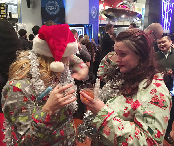 The Moz Team Wore Festive Pajamas At The Geekwire Gala. Photo By Cindy Ritzman