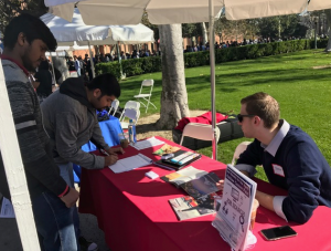 Hundreds of graduating students participated in Viterbi's Career Week, and waited in long lines to meet with employers.